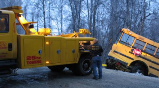 Emergency bus towing service in Anchorage, AK