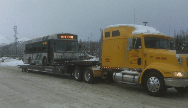 Call us for bus & semi towing in Anchorage, AK today