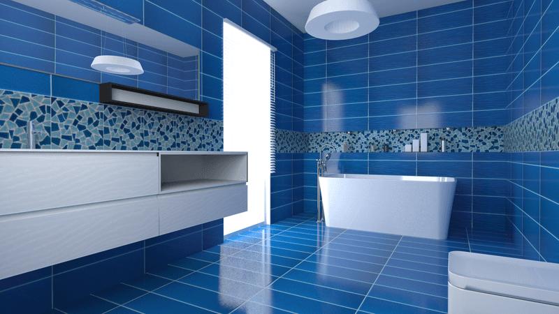 Bagno Con Mattonelle Blu.Manutenzione Parquet Torino To Parivedil Ambienti E Bagno