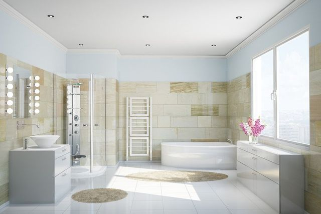 interiors of the bathroom
