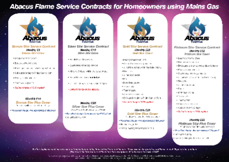 Abacus flame service contracts for homeowners using mains gas