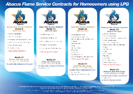 Abacus flame service contracts for homeowners using LPG