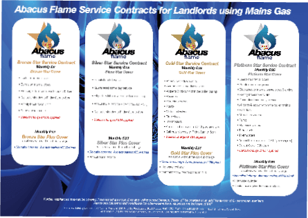 Abacus flame service contracts for landlords using mains gas
