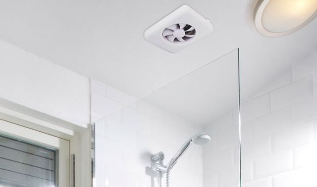 Ventilator above shower enclosure
