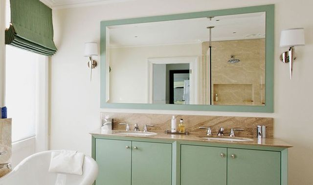 Bathroom cabinets and mirror