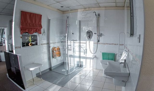 A bathroom in the showroom