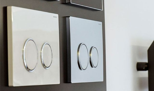 Wall-mounted buttons and switches