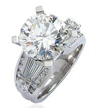 Large brilliant cut diamond ring