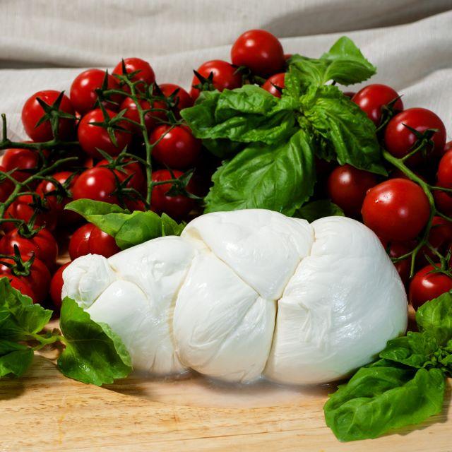 treccia di bufala e pomodorini