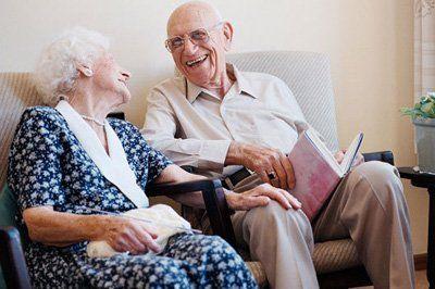 Coppia anziana felice a Monte Compatri