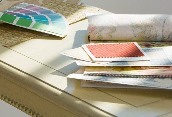 colour swatches and material samples