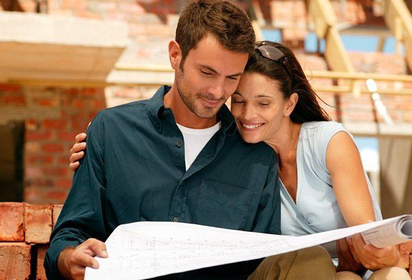 Couple looking at our house designs in Strathalbyn