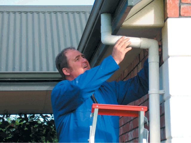 A property inspection includes pipes and gutters in Canterbury