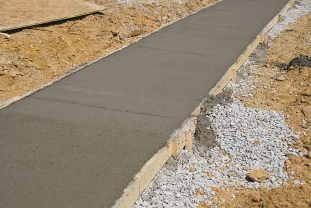 A concrete path as part of driveways in Canterbury