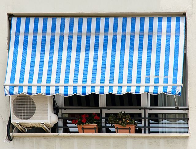 Blue color aluminum awnings