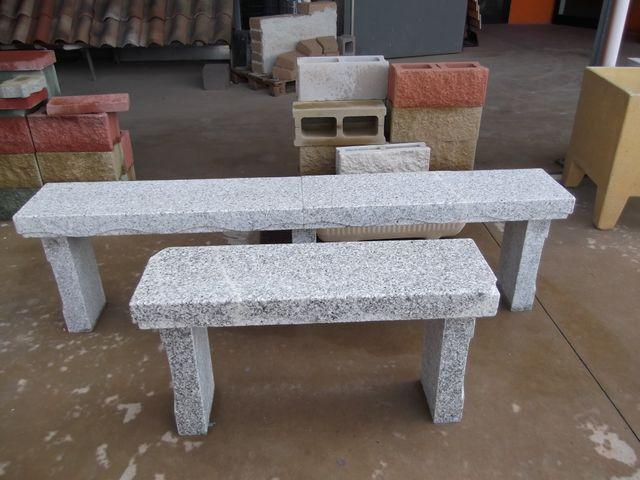 Panche in marmo ed in granito