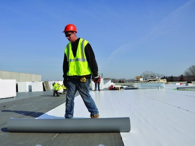 SCI Roofing Services Commercial Roofing Conklin Roof Repair Lisbon Ohio Spray Flexion Single Ply Membrane Roofing System