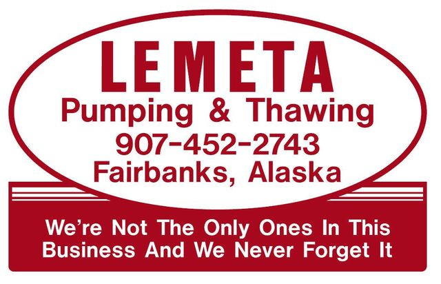 Septic pumping logo and call-out in Fairbanks, AK