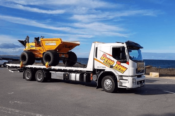 dyno tow truck towing volvo one