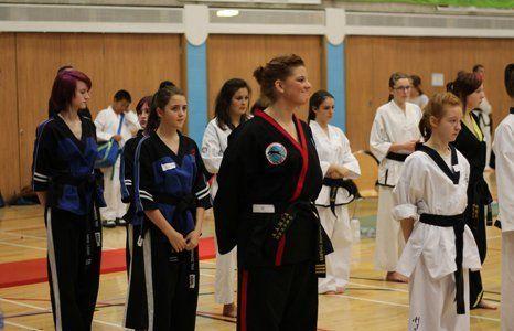 female karate training