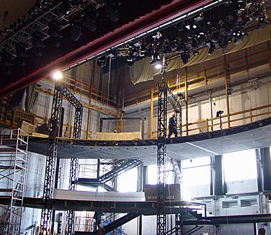 Tralicciatura per palcoscenico Sanremo