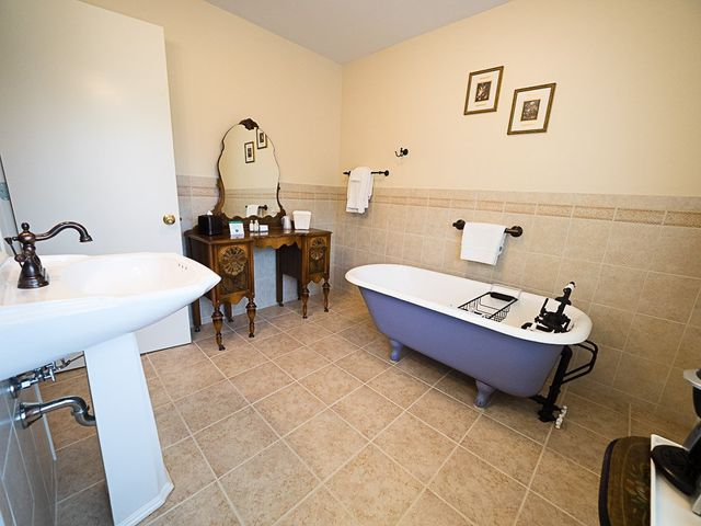 Legend of French Lick Valley Suite Bath with claw-foot tub