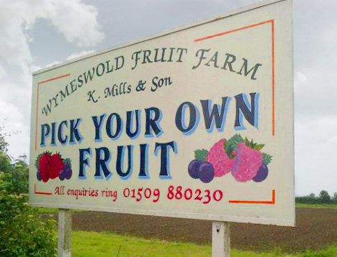 Pick your own fruit at Wymeswold Fruit Farm