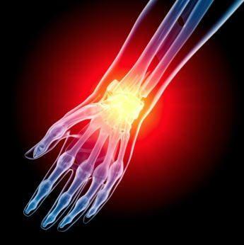 Hand with arthroscopic problem