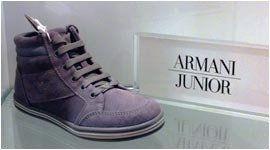 scarponcino color grigio scuro della marca Armani junior