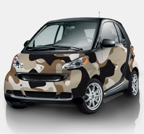 una smart color militare marrone e nera