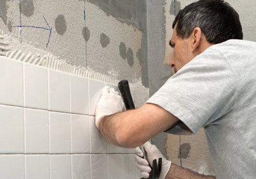 Plumber doing the bathroom  repair