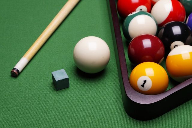 Pool Table Balls Scattered Firehouse Saloo...