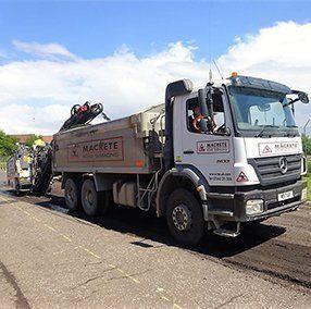high-quality asphalt laying