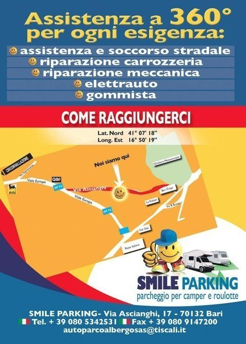 manifesto pubblicitario per servizio trasporti