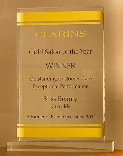 clarins gold award to bliss beauty