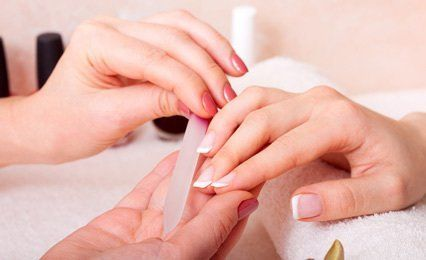 manicure with glass file