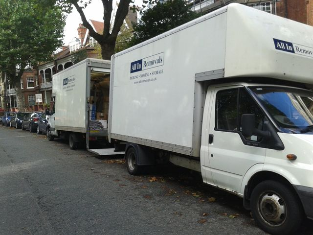 One of our removal vans