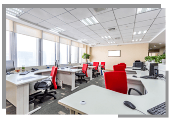 well arranged office desks