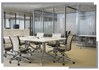 office relaxing chairs and meeting tables