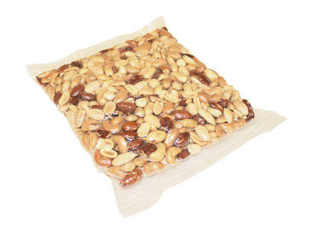 delle arachidi confezionate