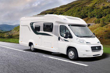 White caravan image
