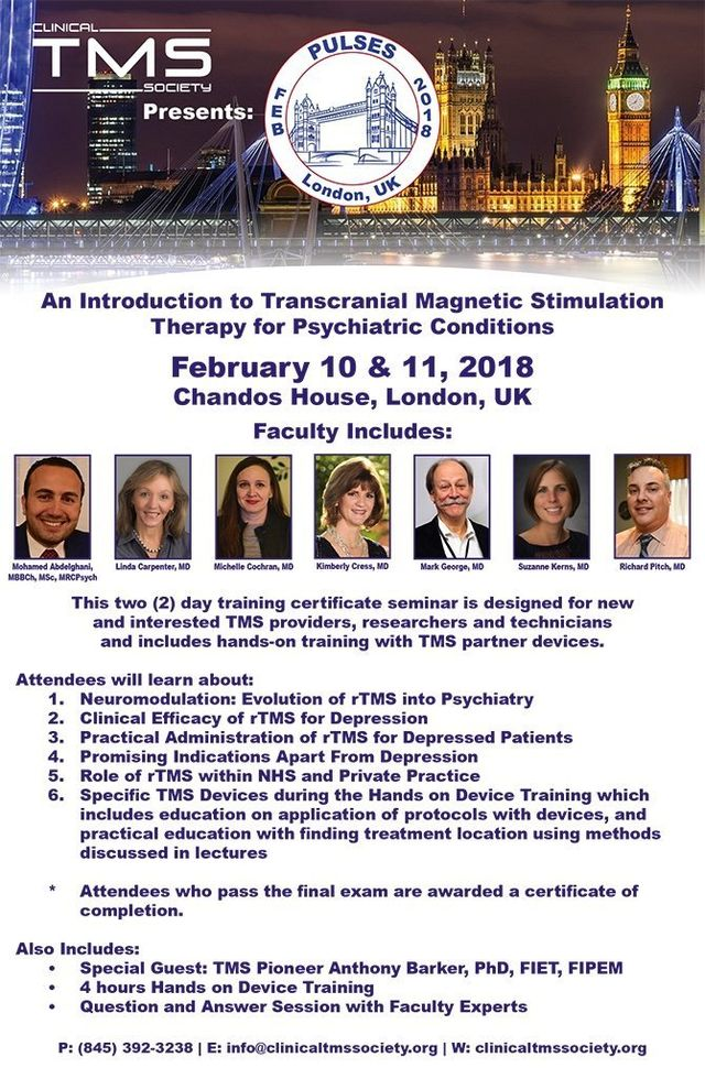Clinical TMS Society Course - Pulses: London