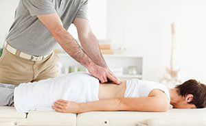 Physical therapist doing therapy