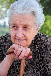 Smiley senior woman