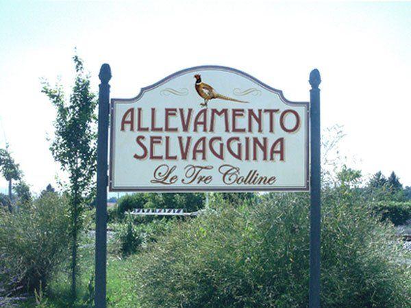 cartello Allevamento Selvaggina