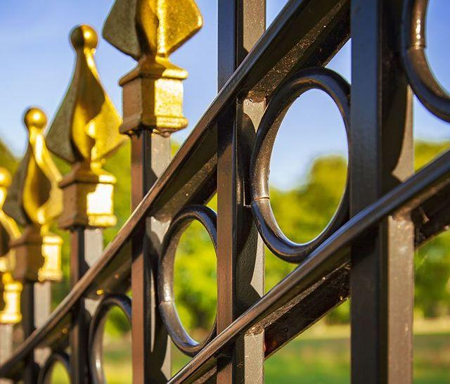 Vista di un cancello in ferro