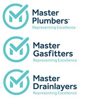 master plumbers, Gasfitters and Drainlayers logo