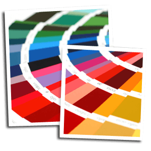 Wide format printing - Monmouth, Monmouthshire - Amdart - color pallet