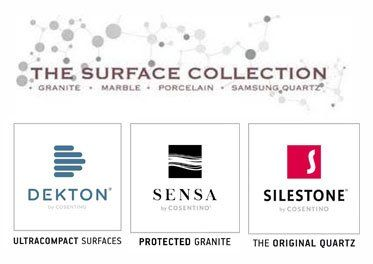 THE SURFACE COLLECTION SILESTONE logos