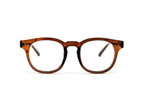 occhiale da vista su sfondo bianco